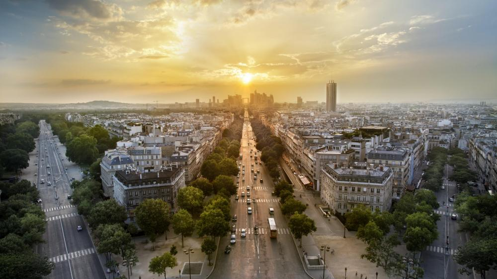 Paris cityscape wallpaper