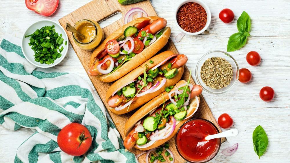 Hot dogs wallpaper