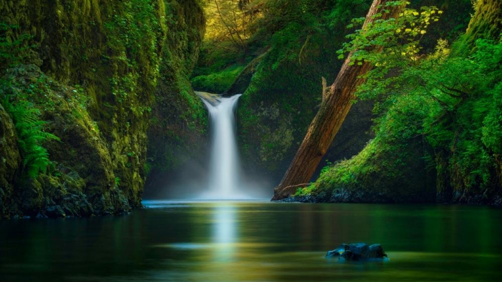 Punch Bowl Falls (Columbia River Gorge National Scenic Area) wallpaper