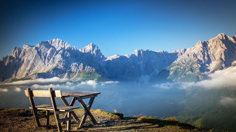 Dolomites overlook wallpaper