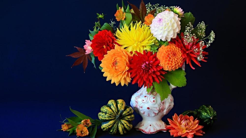 Flower bouquet still life photo wallpaper