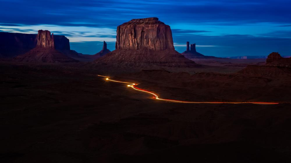 Monument Valley at dawn wallpaper