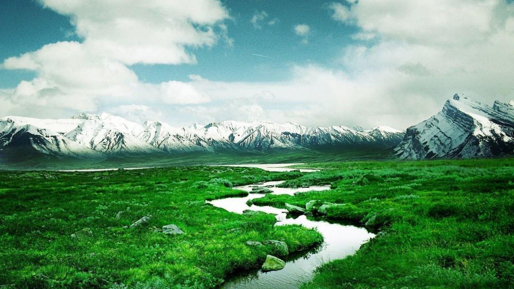 Mountain river wallpaper