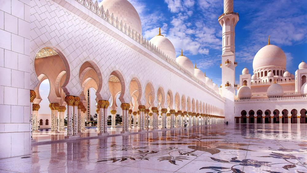 Sheikh Zayed Grand Mosque in Abu Dhabi wallpaper