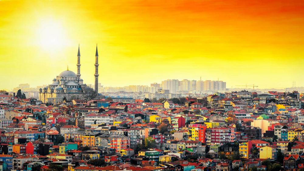 View of Istanbul wallpaper