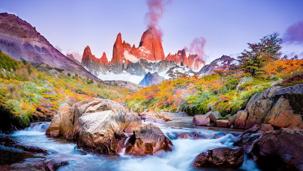 Torres del Paine National Park at fall wallpaper