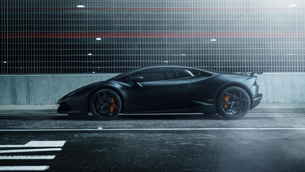 Lamborghini Huracan Vellano MC Matte Black wallpaper