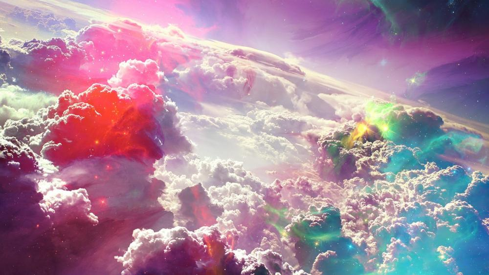 Clouds from the space - Fantasy art wallpaper