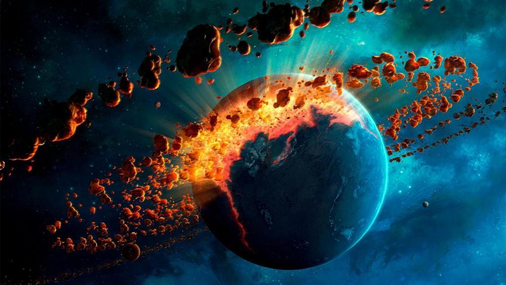 Meteor vortex wallpaper