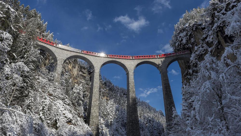 Devil's bridge - Landwasser Viaduct wallpaper