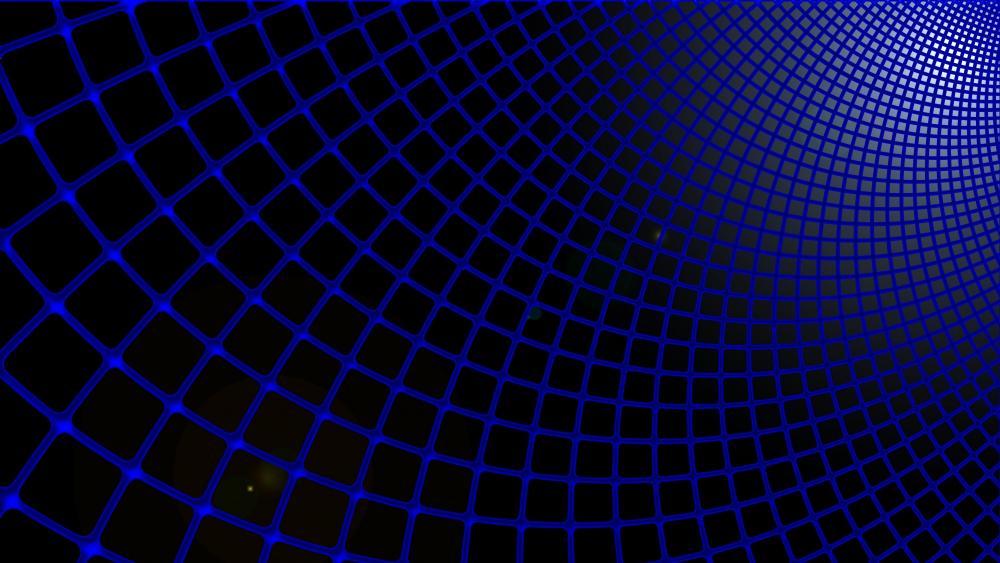3D Blue mesh wallpaper