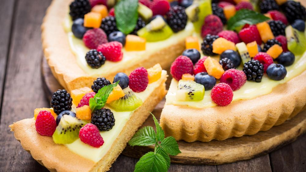 Fresh Fruit Tart wallpaper