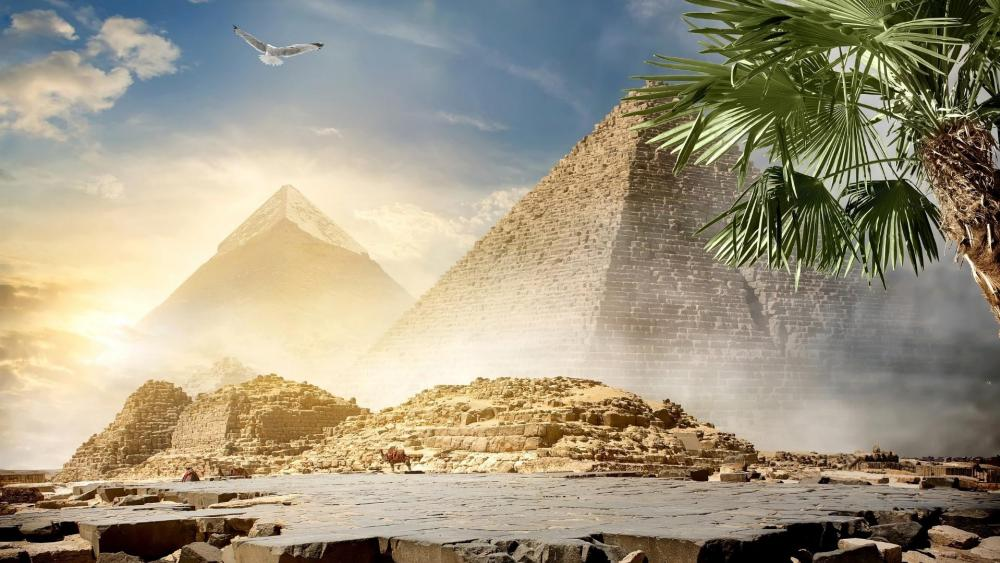 Egyptian pyramids wallpaper