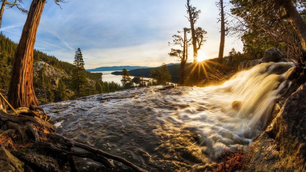 Eagle Falls at Lake Tahoe wallpaper