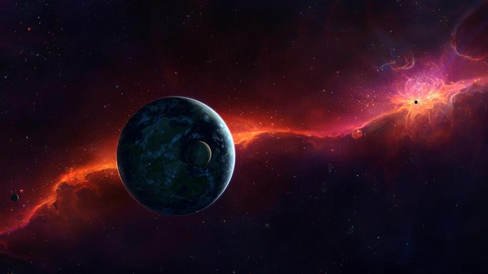 Fantasy space art wallpaper