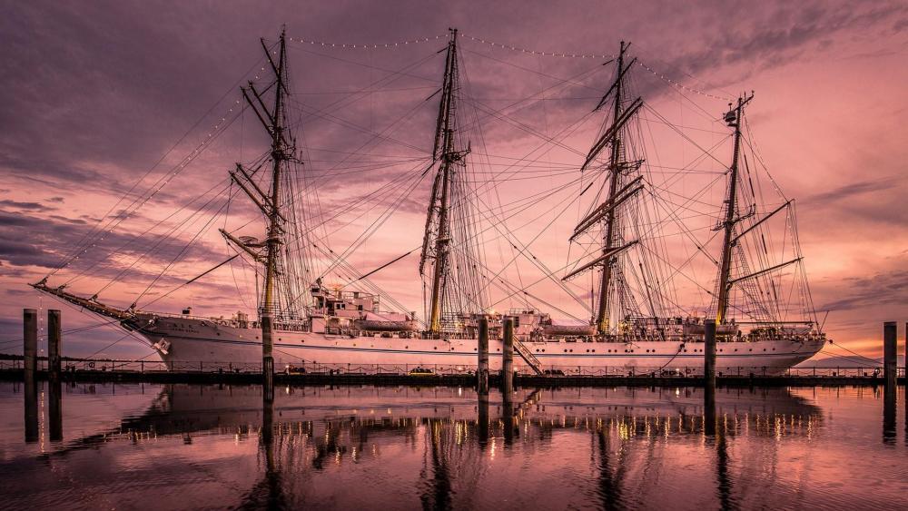 East Indiaman sailing ship wallpaper