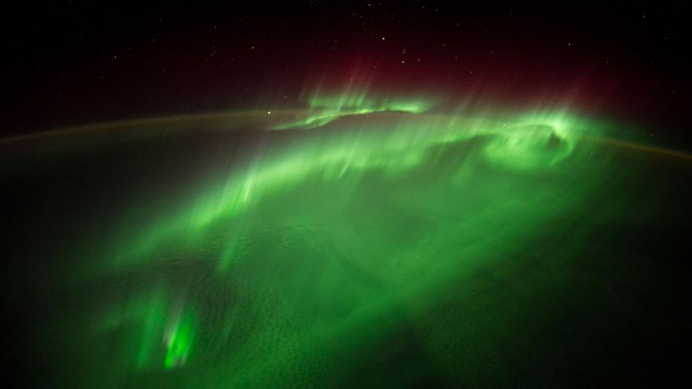 Aurora Australis from the space wallpaper