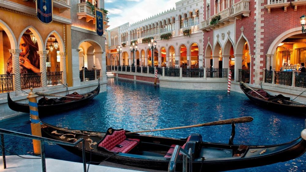 Goldola of Casino at Venetian Macao wallpaper