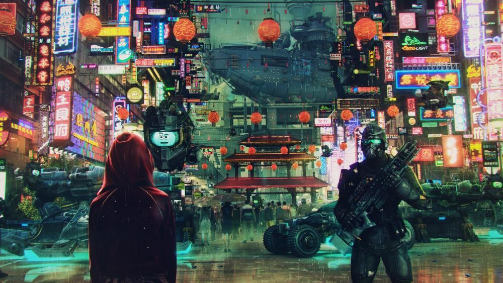 Cyberpunk City wallpaper