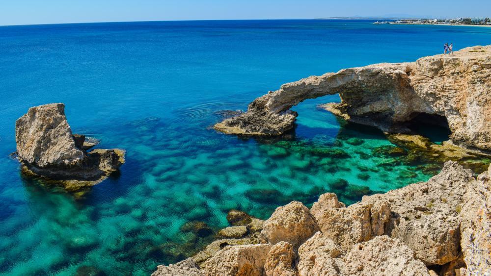 Love Bridge at Cape Greco (Cyprus) wallpaper