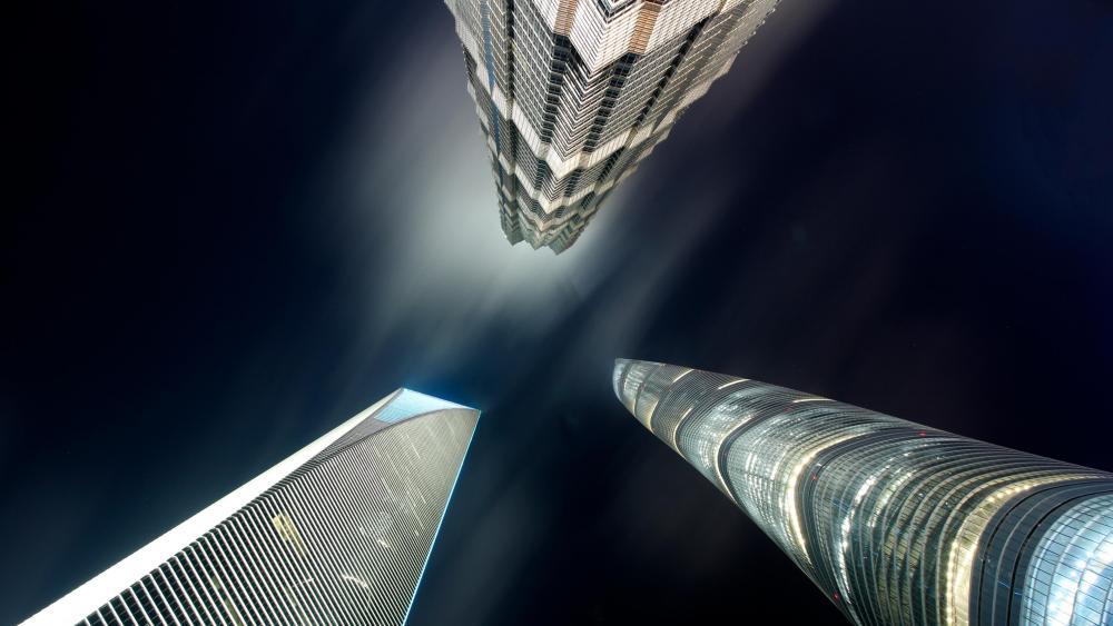 上海三高楼 (Shanghai Three Towers) wallpaper