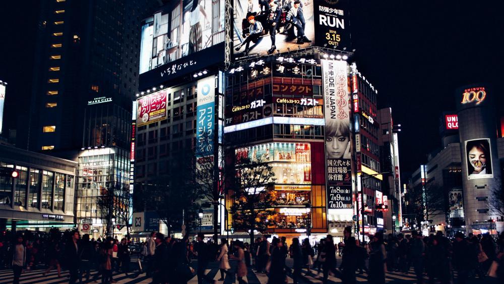 东京街头 (Tokyo street) wallpaper