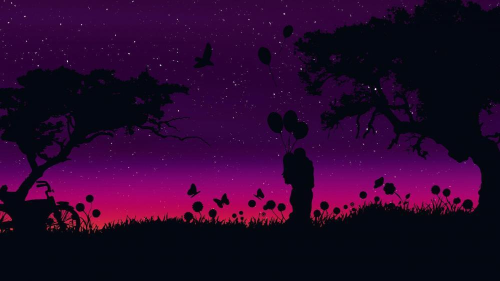 Romantic night wallpaper
