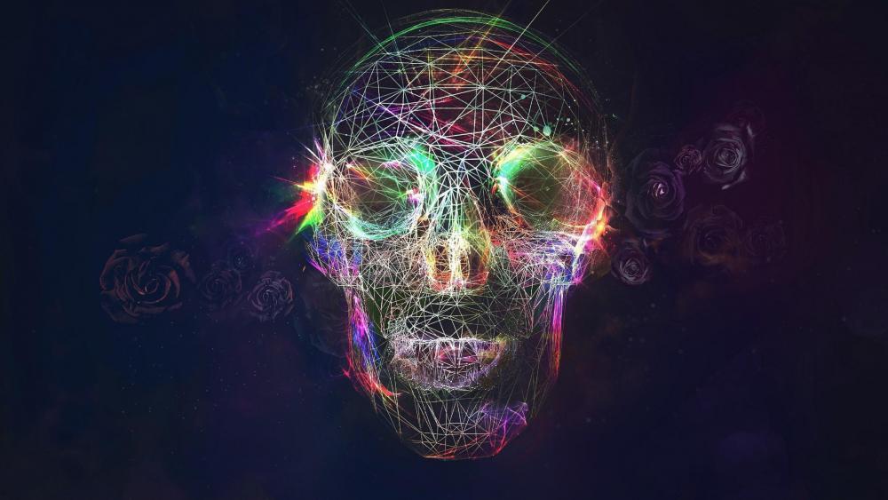 Skull digital art wallpaper