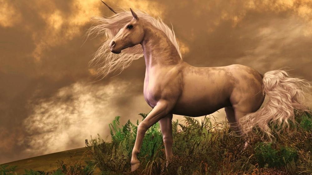 White Unicorn wallpaper