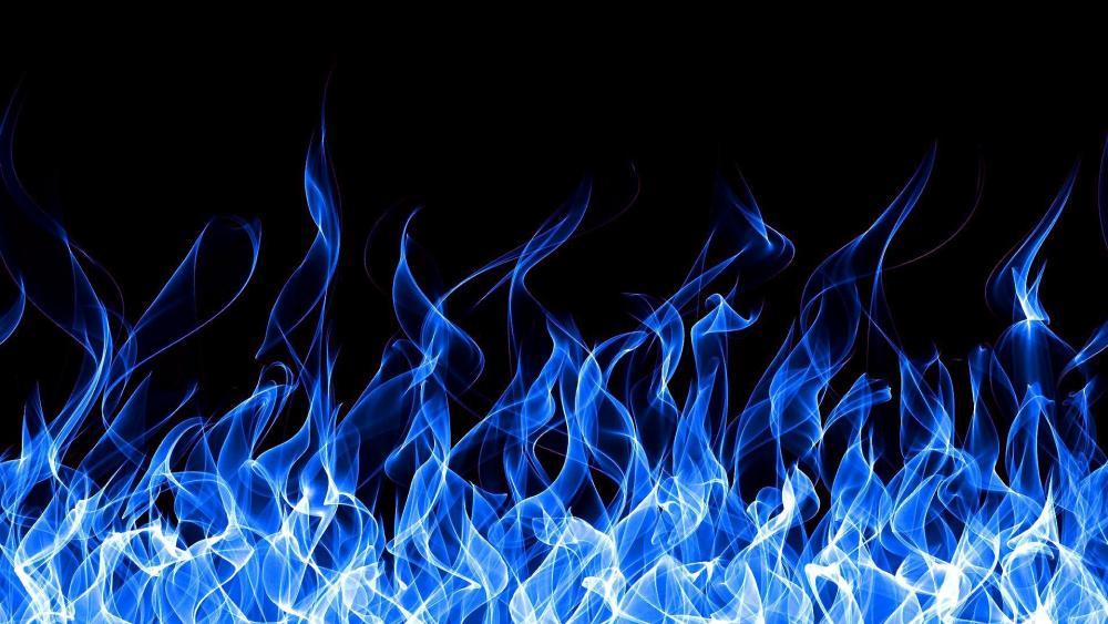 Blue Fire wallpaper
