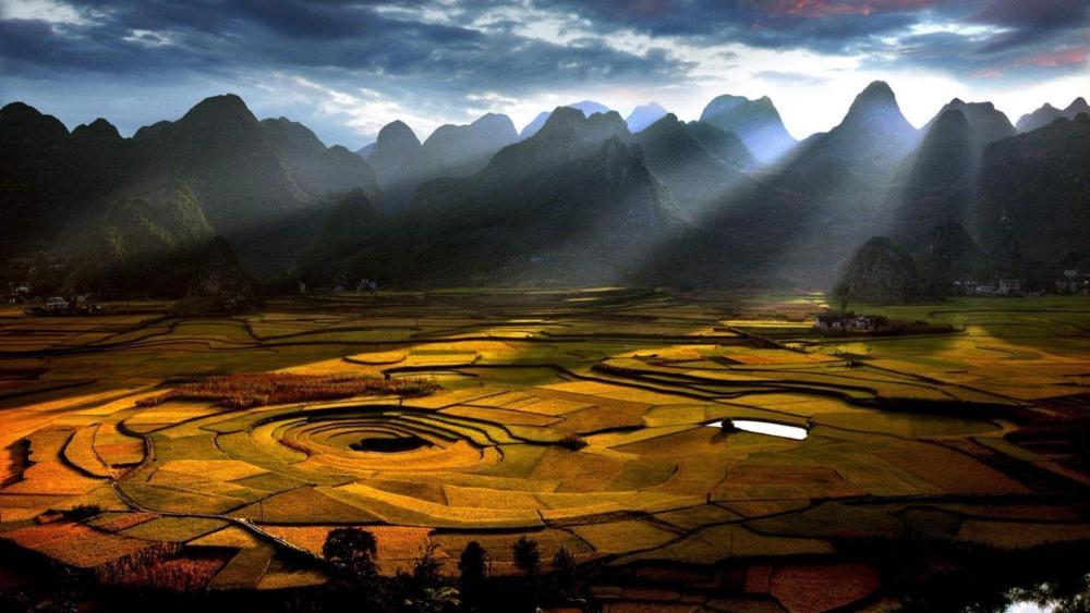 Ten thousand hoodoo - Wanfenglin Scenic Area wallpaper