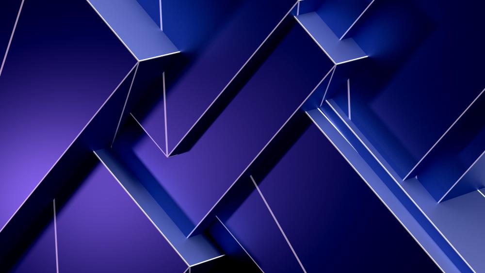 Geometry 3D digital art wallpaper