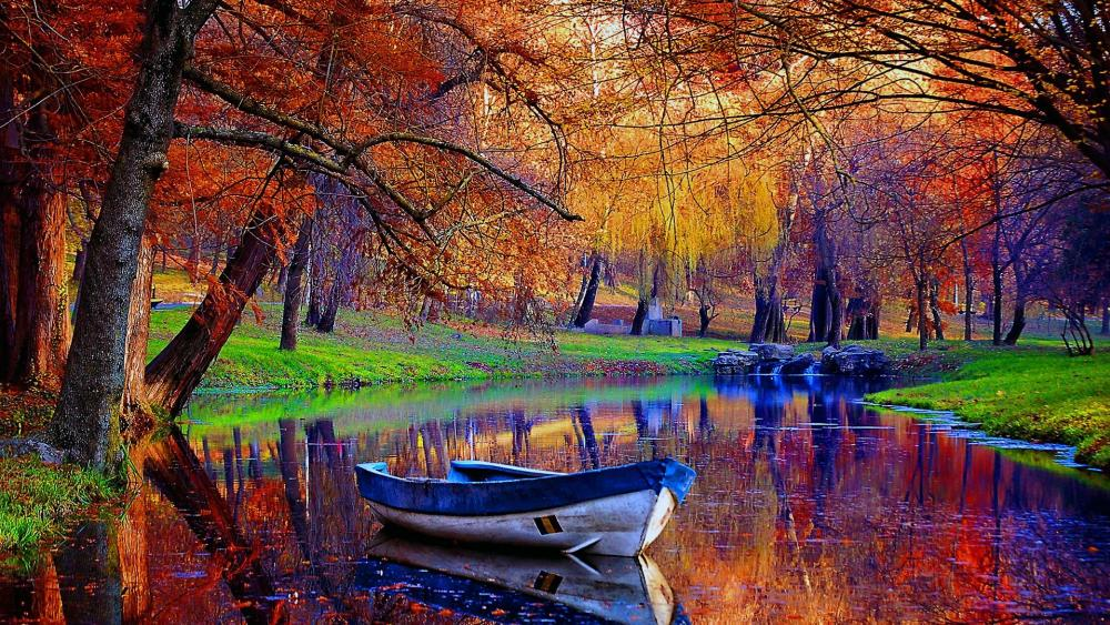 Autumn colors reflection wallpaper