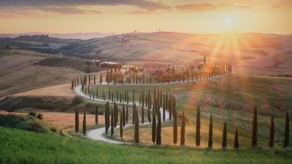 Tuscany landscape wallpaper