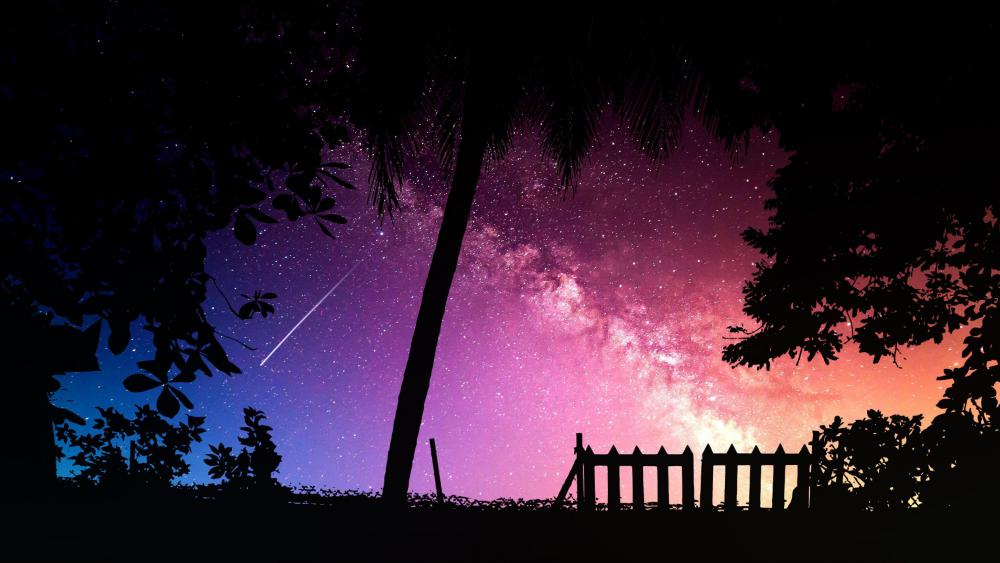 Falling star wallpaper