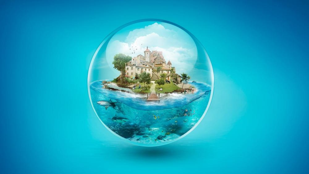Life in a bubble wallpaper