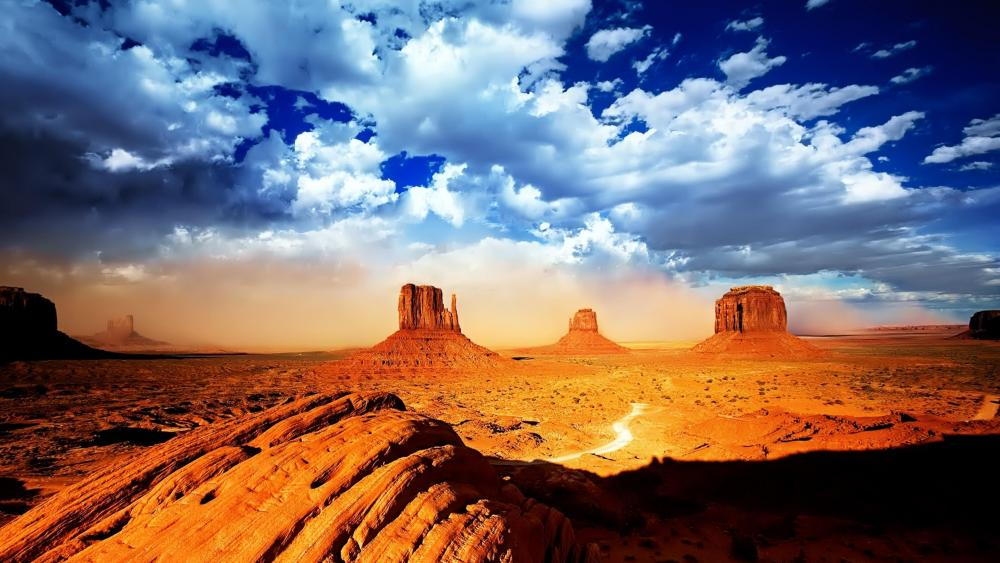 West and East Mitten Buttes (Monument Valley) wallpaper