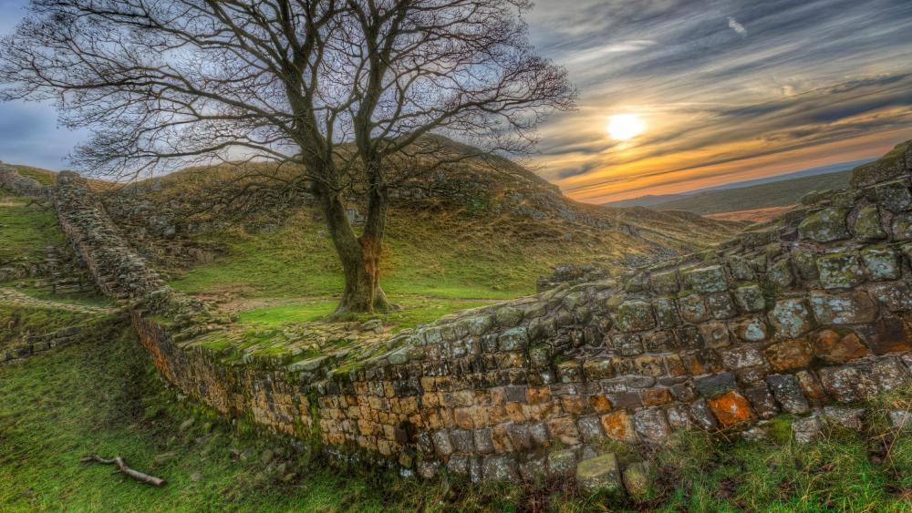 Hadrian's Wall (Roman Wall) wallpaper