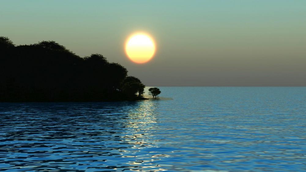 Calm sunrise wallpaper