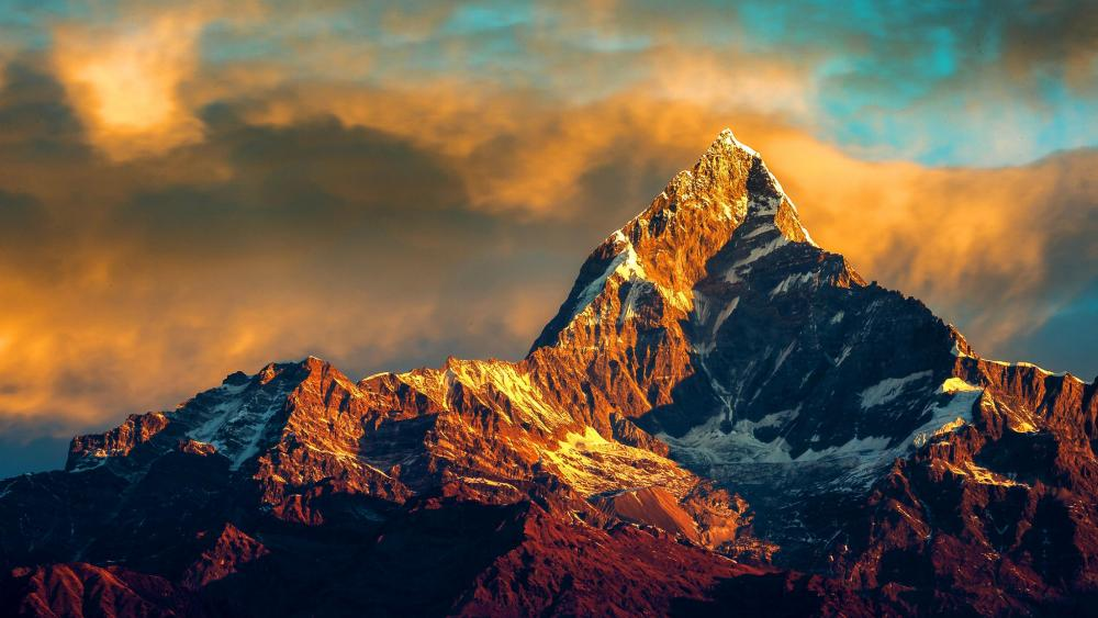 Himalaya from Pokhara wallpaper