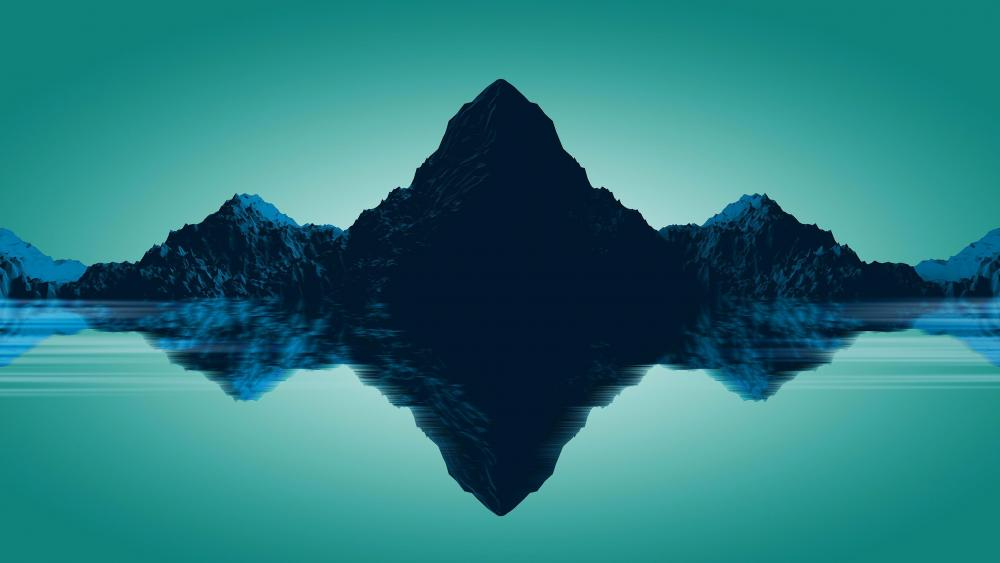 Mountain reflection - Low Poly Art wallpaper