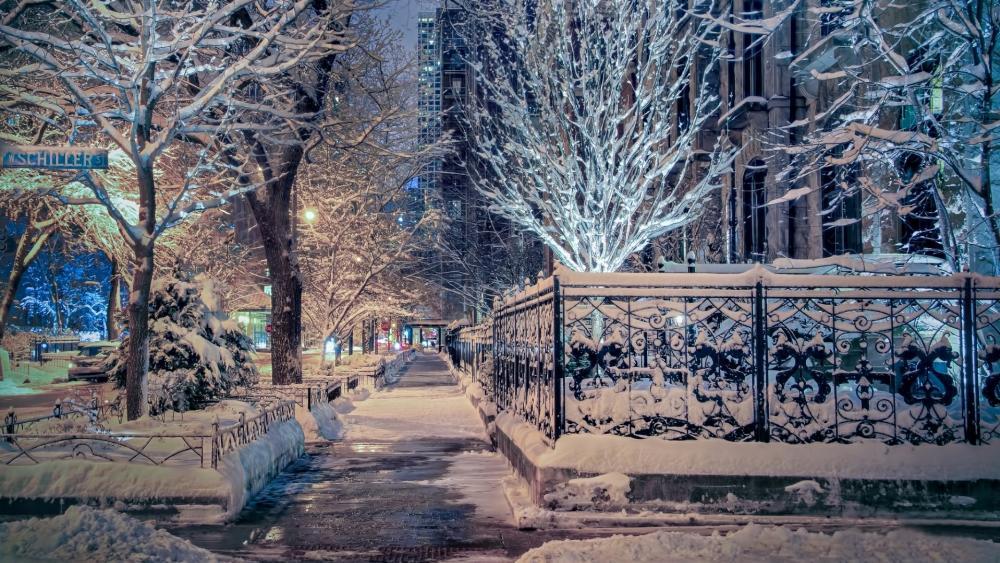 Winter in Chicago wallpaper