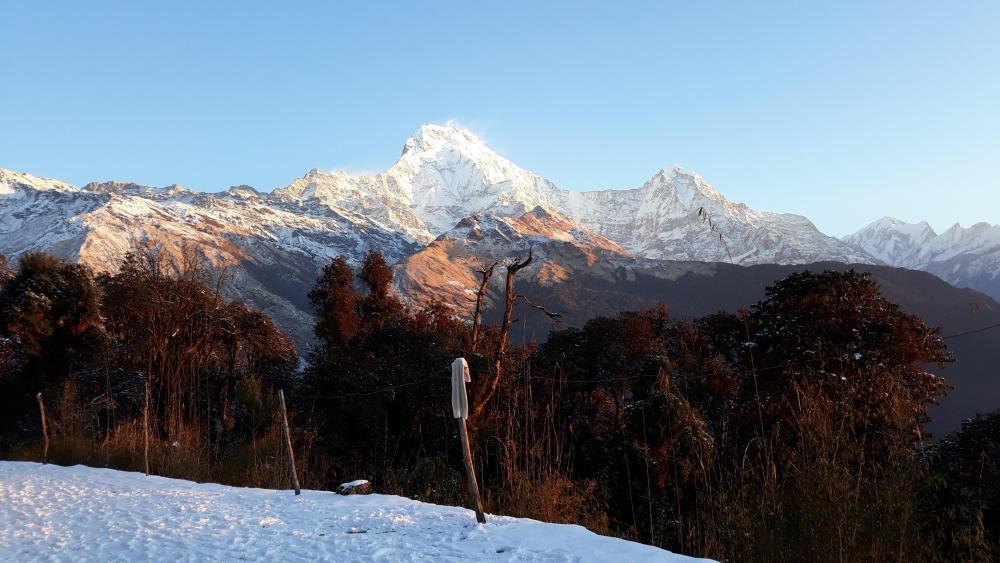 Mountain peak in Nepal wallpaper