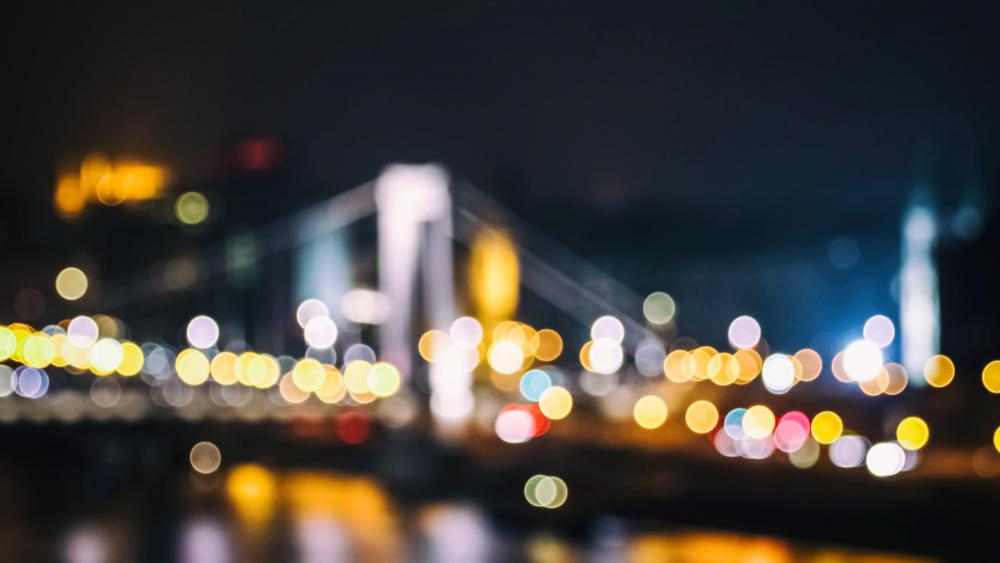 Bokeh Bridge wallpaper