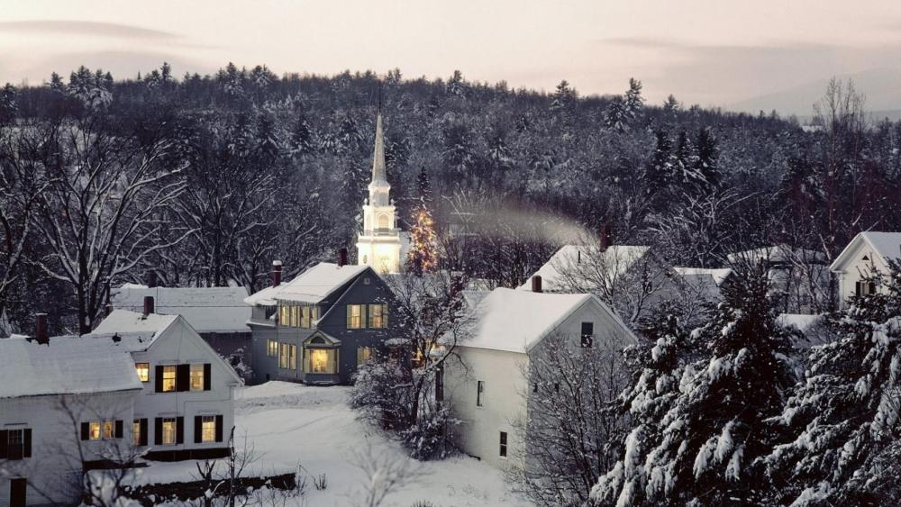 Winter wonderland in Vermont wallpaper