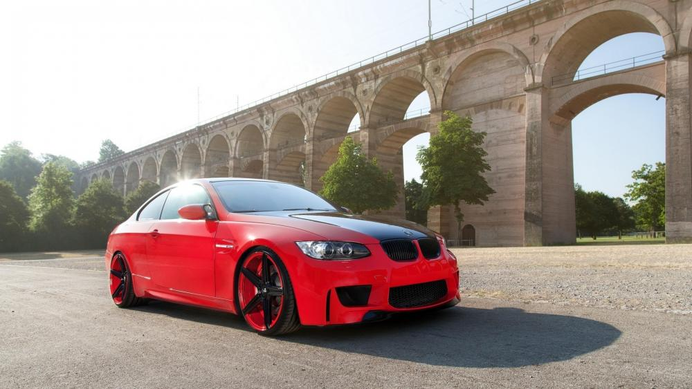 Red BMW M3 coupe wallpaper