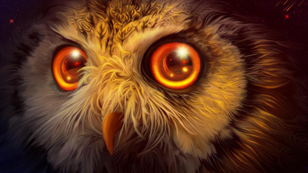 Fantasy owl wallpaper
