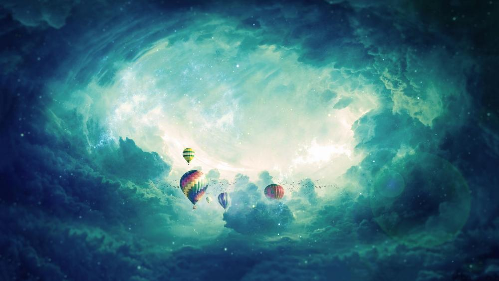Hot air balloons in the sky - Fantasy Art wallpaper