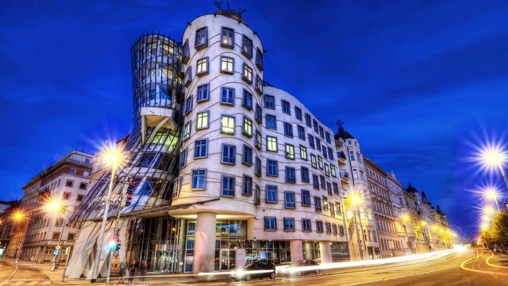 Prague's Dancing House wallpaper