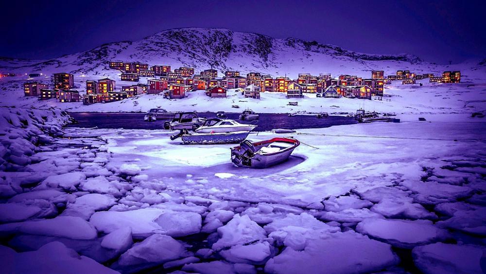 Nuuk in Greenland wallpaper
